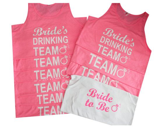 10 Brides Drinking Team racerback Tank Tops. by BridesmaidTank