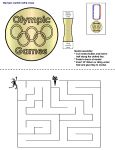 For ages 2.5 to 6 - Olympic Games for kids/Crafts Preschool Lesson Plan Printable Activities