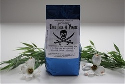 TALK LIKE A PIRATE    Bath Salts -  (750 g.)    Solar Salt with the purest essential oils of Cyprus and patchouli with sandalwood oil and hibiscus flowers.    Guaranteed to have you walking with a peg leg limp and speaking in universal pirates, ''RRRRRRRRR''.