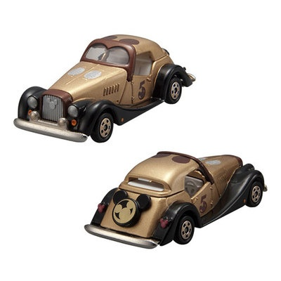 Japan Takara Tomy Disney Motor Tomica Diecast 5th Anniversary Gold Mickey Tomica