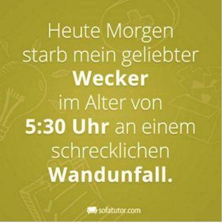 #Morgens #Wecker