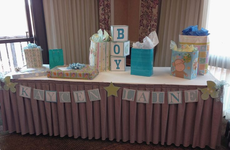 Baby Gift Decoration Ideas : The best images about baby shower gift table on