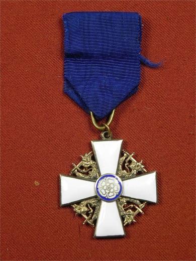 Finnish WW2 Order of White Rose 1 Class Knight Cross