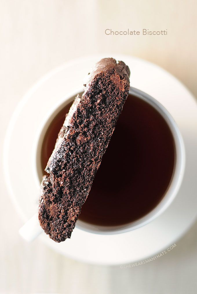Easy Chocolate Biscotti - I always wanted to make Biscotti... just the name is attractive enough!