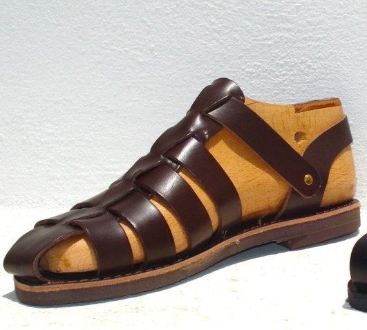 Greek handmade Roman leather sandals for men  by AnaniasSandals, $45.00