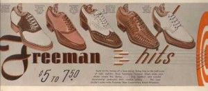1940s Mens Shoes - 1940′s Mens saddle, two-tone, wingtip, woven oxford, and white two-tone shoes