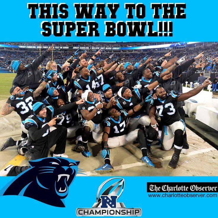 This way to the Super Bowl!!! The Carolina Panthers are NFC Champions.  NFL playoffs   ARIZONAvsCAROLINA   Super Bowl 50