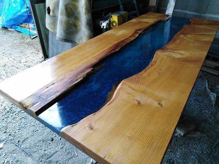 Costruire Un Tavolo Da Giardino In Legno.Come Fare Tavolo In Resina E Legno Tipo Fiume Live Edge O River