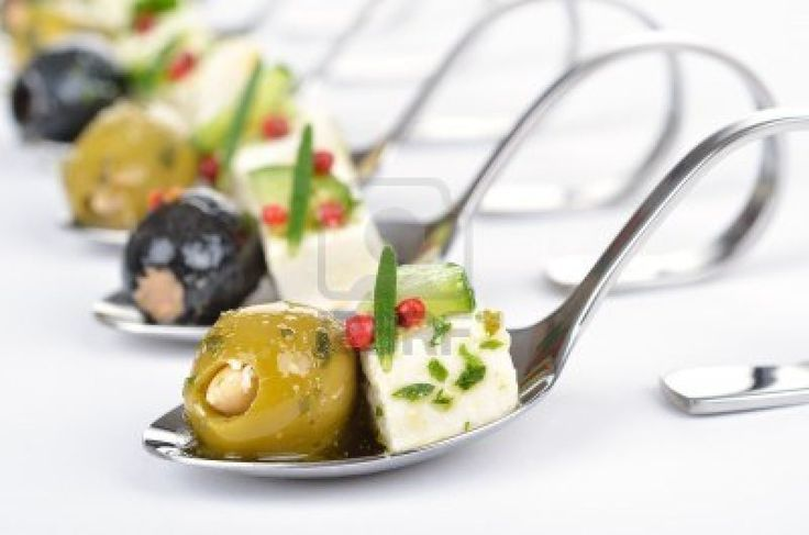 Google Image Result for http://us.123rf.com/400wm/400/400/kabvisio/kabvisio1201/kabvisio120100047/12035521-greek-appetizers-on-spoon.jpg