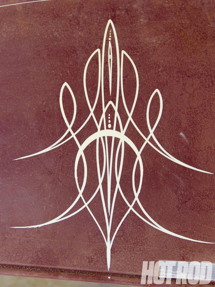 Pinstripe Designs On Cars Pinstriping finished hood | pin ...