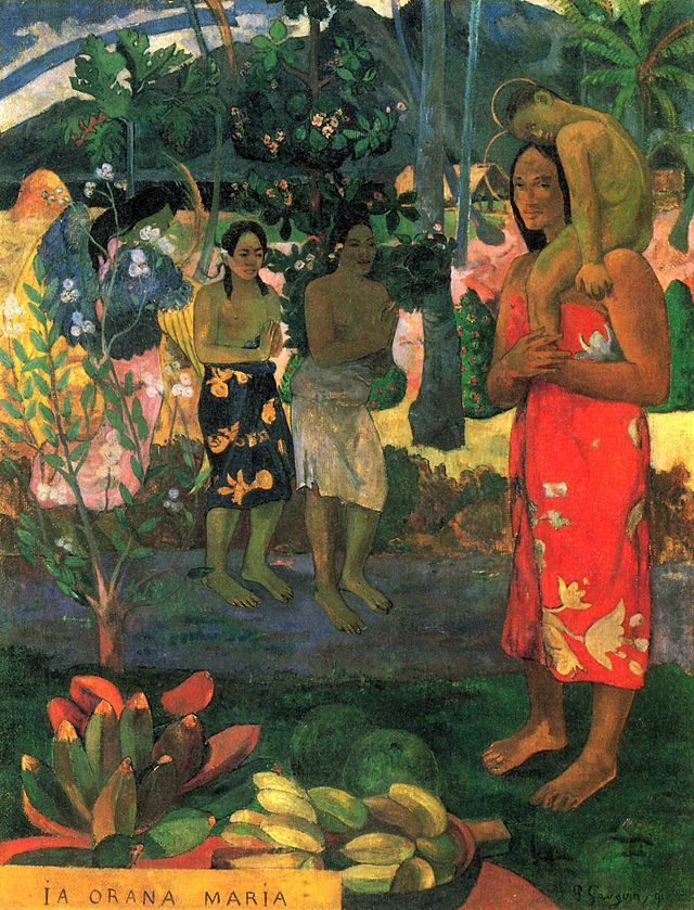 Paul Gauguin, Ia Orana Maria, 1891. Olio su tela, 114×89 cm. Metropolitan Museum of Art, New York