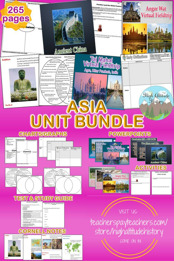 Ready to Teach Your Students About Asia?  Stop By and See Our Asia Unit Bundle, Packed with the Materials You Need to Make Your Lessons Fun, Engaging and Worthwhile for Your Class!  Best for Grades 9-12.