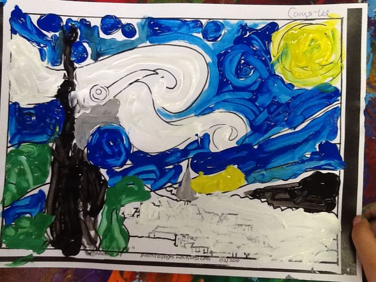 Swabs painting 'Starry Starry Night'