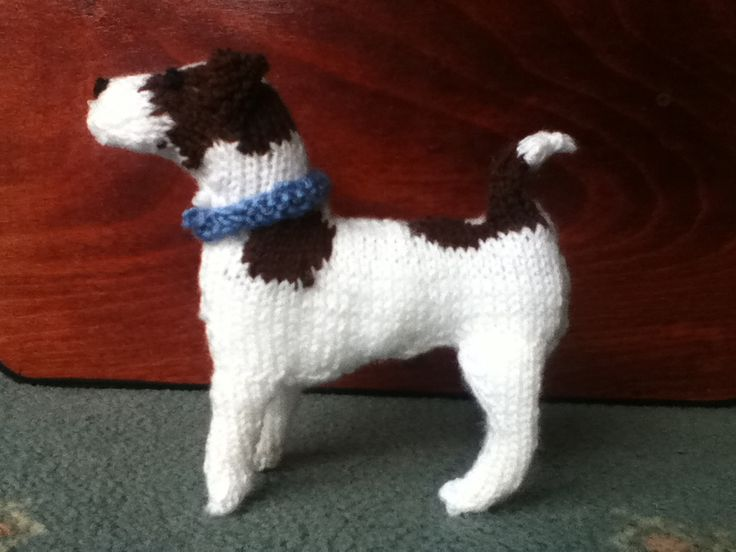 Amanda's Knitted Jack Russell . Knitting pattern by the Best in Show Series