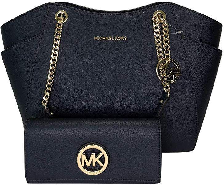 Michael Kors Womens Handbag Jet Set Travel Large Chain Shoulder Tote Bundled With Michael Kors Fulton Fl Michael Kors Tote Bags Women Handbags Shoulder Tote
