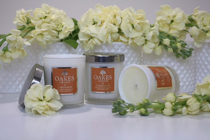 "Oakes Candles ""Orange & Cardamon"" Sweet, juicy & spicy. Delicate fragrance and beautifully balanced 😍 www.oakescandles.co.uk"