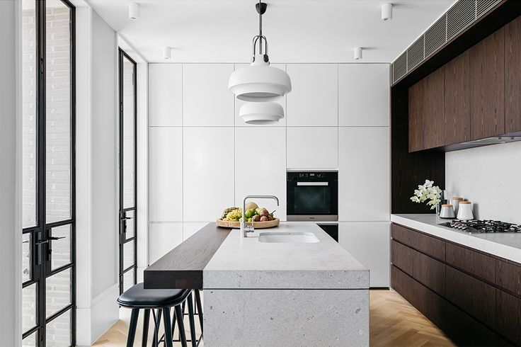 Walnut veneer kitchen cabinets @10 Wylde Street Potts point