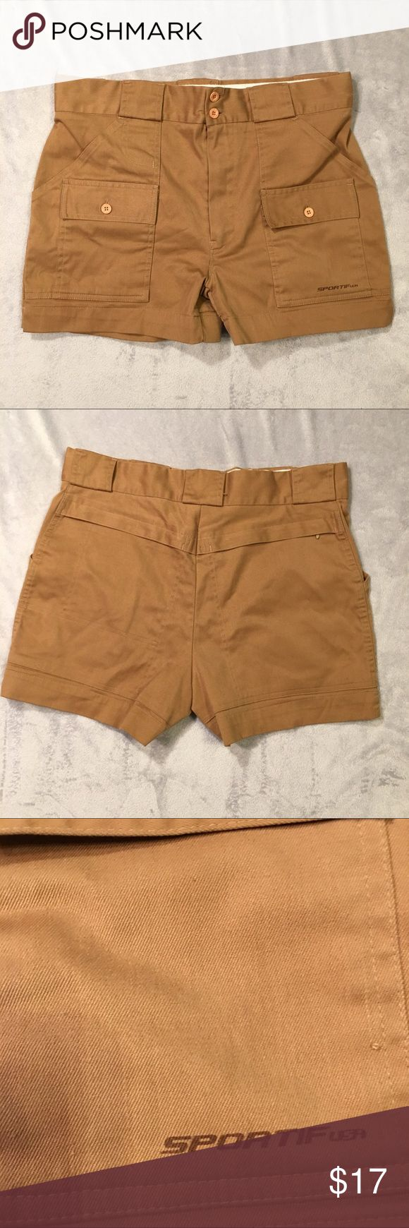 """Sportif USA espa plus shorts athletic fishing 34 Good overall condition. Minor staining on interior waistband. See pictures. Measurements are approximate with the garment laid flat.  Waist 16.5"""" Inseam 3.5"""" Rise 11"""" Sportif USA Shorts"""