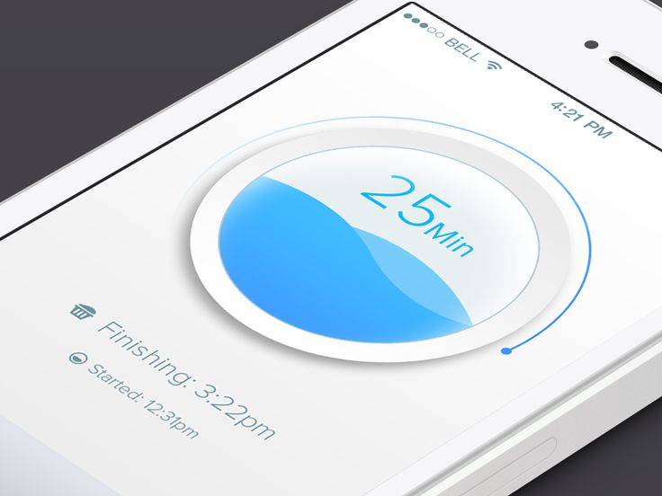 Laundry Timer Mobile App | Beautiful Mobile User Interface Design #UI