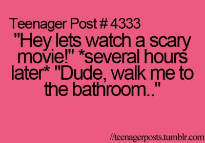 I love scary movies!!! Have to turn on all the lights in the house afterwards'