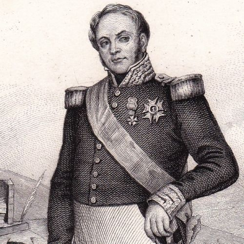 Portrait-XIXe-Bertrand-Clauzel-Napoleon-Bonaparte-Premier-Empire-Mirepoix