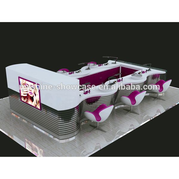 Source High-End Indoor Mall Wood Modern Nail Salon Furniture on m.alibaba.com