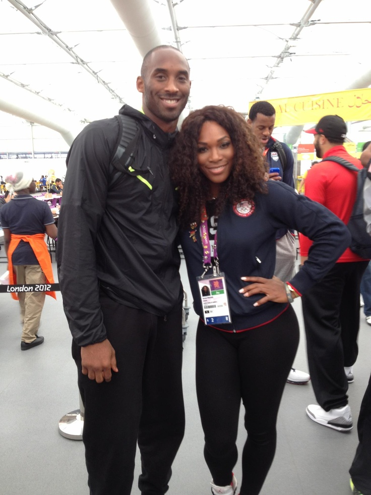 Two of my favorite athletes: Kobe and Serena - 2012 Olympic GOLD medal winners!