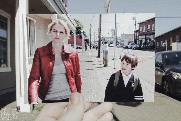 "She treats us to recreations of Emma and Henry, back in the early days. | A ""Once Upon A Time"" Fan Recreated The Series In The Coolest Way"