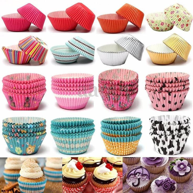 50/100pcs Paper Cupcake Liner Cake Case Wrapper Muffin Baking Cup Wedding Party #UnbrandedGeneric