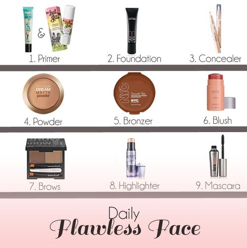 9 Steps to Your Daily Flawless Face