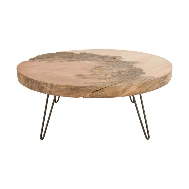 Mudita Coffee Table Grey Stone And Natural Grey Wood Coffee
