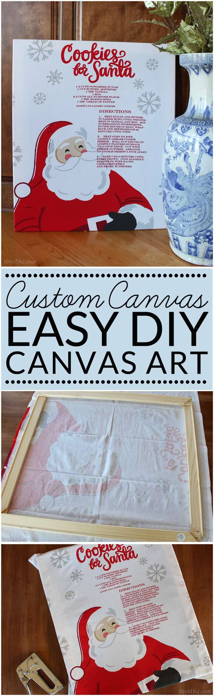 Hometalk diy christmas window decoration - Diy Canvas Art Can Be Customized To Any Season Or Decorating Style Simply