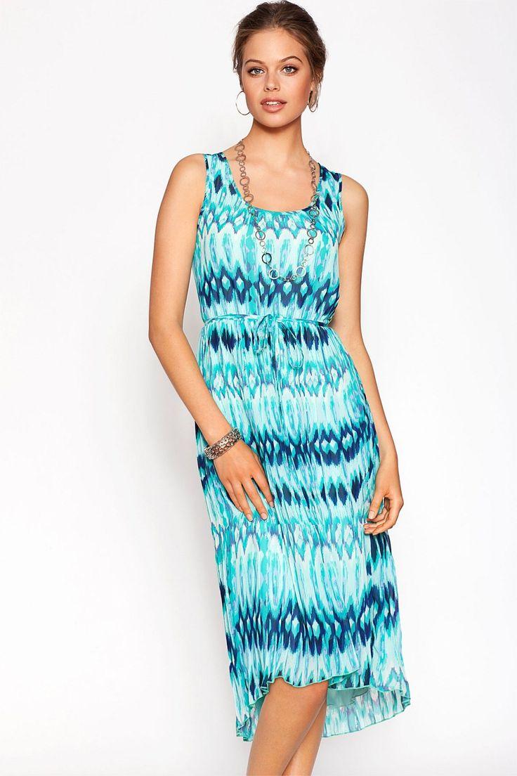 Dresses - Urban Drop Hem Print Dress - EziBuy New Zealand