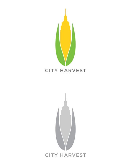 works in color and grayscale // City Harvest logo | Logo Design sample made by LDIN #logo #logodesign