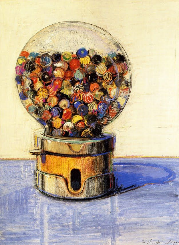 (Art by Wayne Thiebaud) Ya never know what you're gonna get, but it WILL no doubt be interesting.