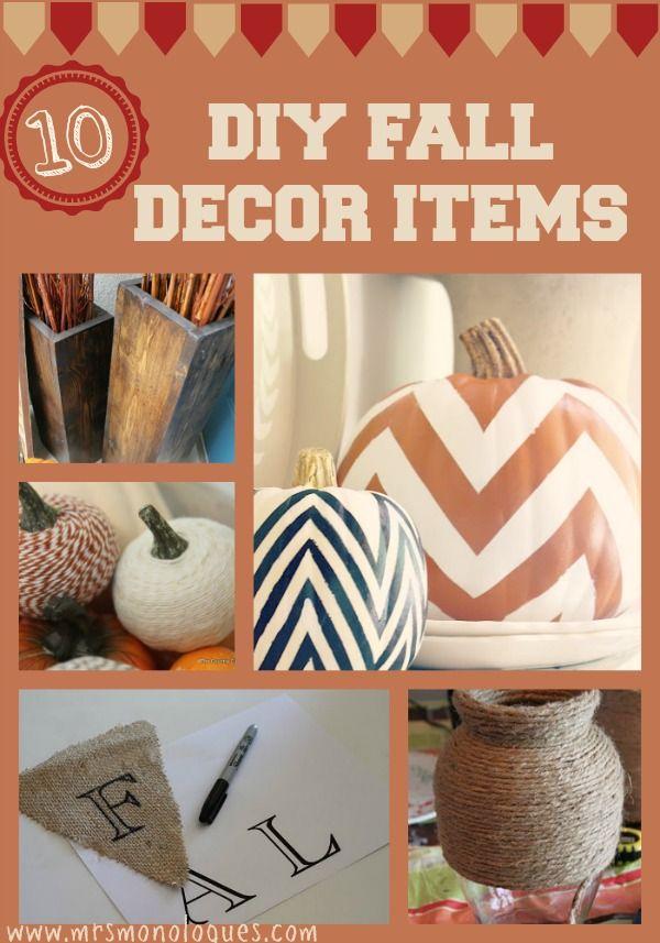 10 DIY Fall Decor Items   Via @Kat Ellis #fall #decor #diy were doing this! @Sam McHardy McHardy McHardy McHardy McHardy McHardy McHardy Taylor Spratt