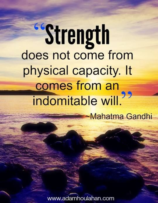The Sheer Strength of a Person
