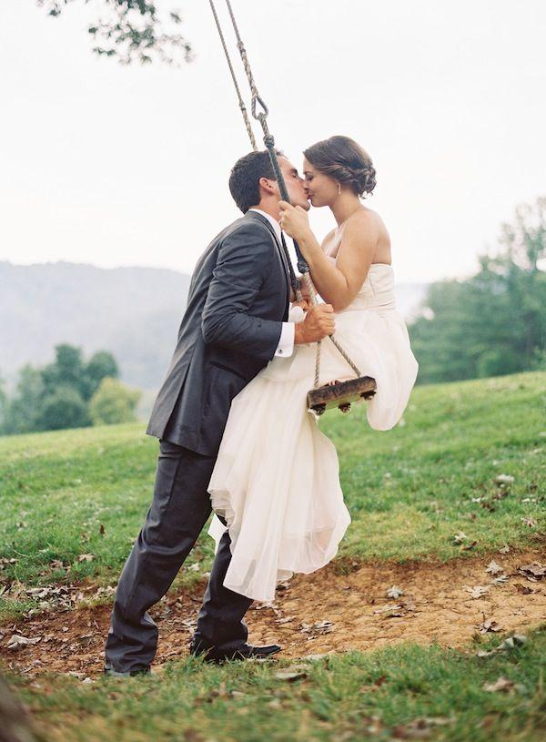 perfect swing kiss | Clark Brewer #wedding