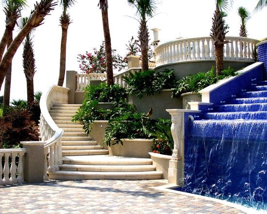 Home Water Fall Stairs : Mediterranean Design, Pictures, Remodel, Decor and Ideas - page 2