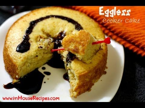 Eggless Cake In Cooker - Hindi with English Subtitles - inHouseRecipes - YouTube