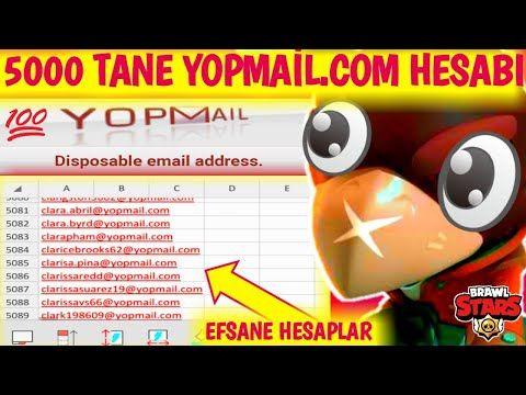Brawl Stars 5000 Tane Yopmail Com Hesabi 100 100 Gercek Efsane Hesaplar Youtube In 2021 Youtube Brawl Save