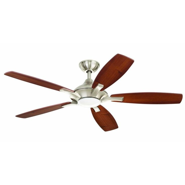 Ceiling Fans With Led Lights Home Decorators Collection Petersford 52 in. LED Brushed ...