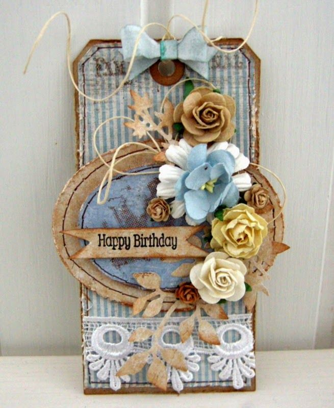 Crafting ideas from Sizzix UK: Happy birthday tag