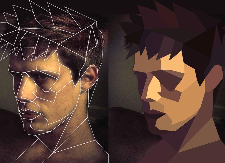 polygon portrait poster tutorial