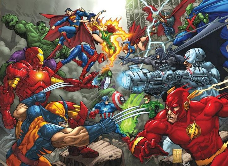 Marvel vs DC...definitely Marvel <3