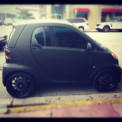 Murdered Out SmartCar...I would drive the crap outta this car.