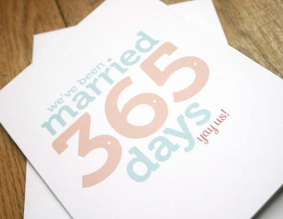 Celebrate All Those Blissful Days Of Marriage First Wedding Anniversary Card By