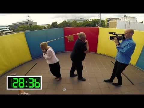 ▶ Stockings TUG-OF-WAR! - YouTube