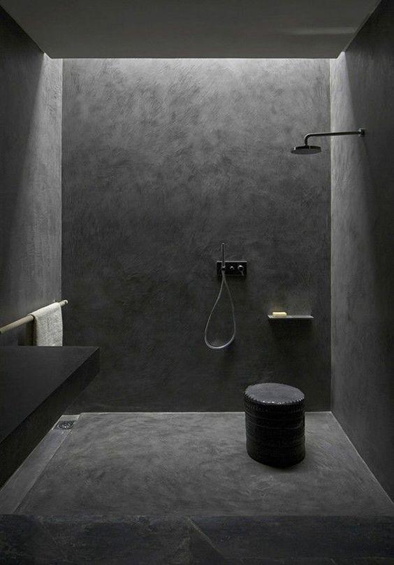 Stylish And Bold Bathroom Design In Black Remodel En 2019