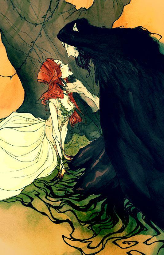 Hades and Persephone IV by AbigailLarson.deviantart.com on @deviantART
